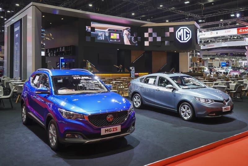 Αυτοκίνητο eco MG ZS στην επίδειξη στη διεθνή έκθεση αυτοκινήτου 2019 της 40ης Μπανγκόκ στοκ φωτογραφία