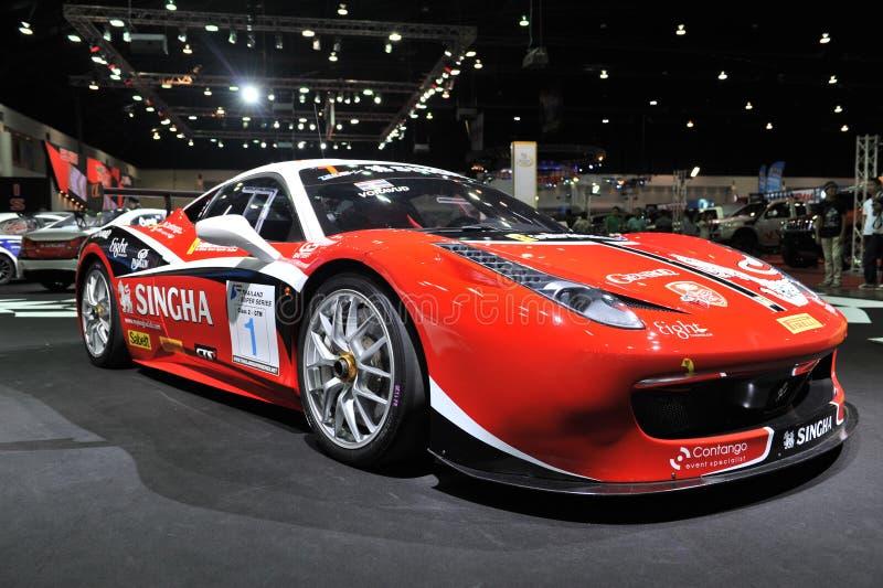 Αυτοκίνητο Ferrari στο 3$ο διεθνές autosalon 2015 της Μπανγκόκ στις 27 Ιουνίου 2015 στη Μπανγκόκ, Ταϊλάνδη στοκ φωτογραφία