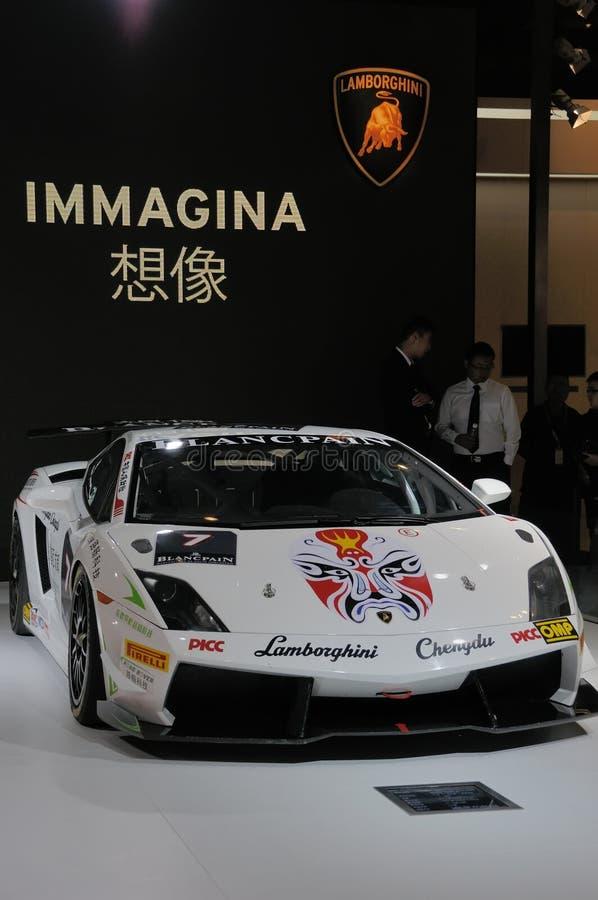 Αυτοκίνητο Lamborghini στο κινεζικό ύφος στοκ εικόνες με δικαίωμα ελεύθερης χρήσης