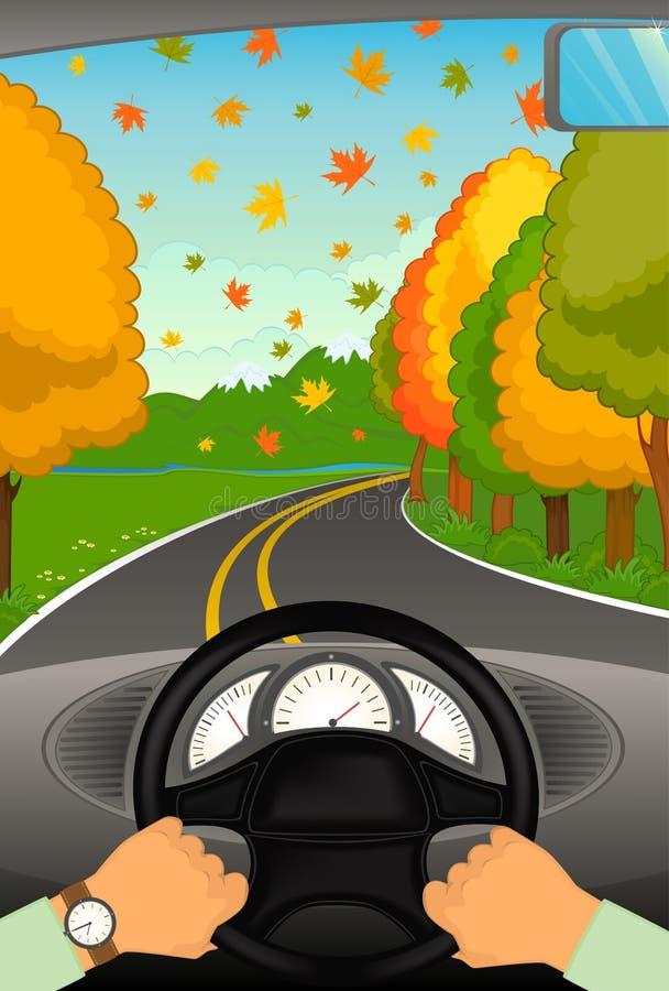 αυτοκινητική λαβή τιμονιώ διανυσματική απεικόνιση