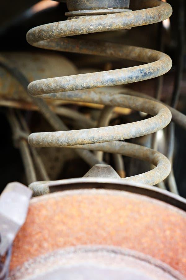 Αυτοκινητικό ελατήριο σπειρών στοκ φωτογραφία με δικαίωμα ελεύθερης χρήσης