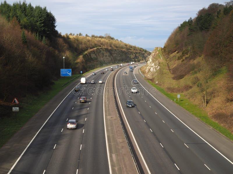 Αυτοκινητόδρομος M40 Chilterns στοκ εικόνες