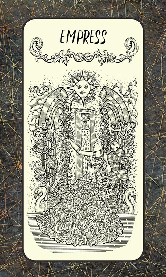 αυτοκράτειρα Σημαντική κάρτα Arcana Tarot απεικόνιση αποθεμάτων