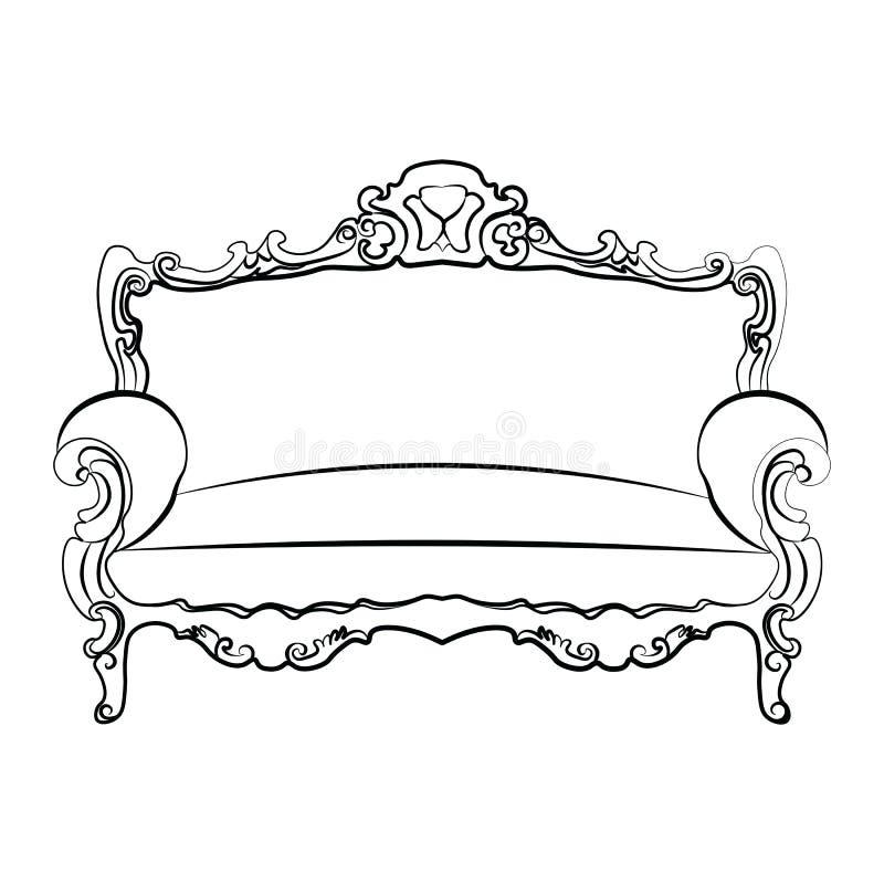 Αυτοκρατορικός βασιλικός καναπές απεικόνιση αποθεμάτων