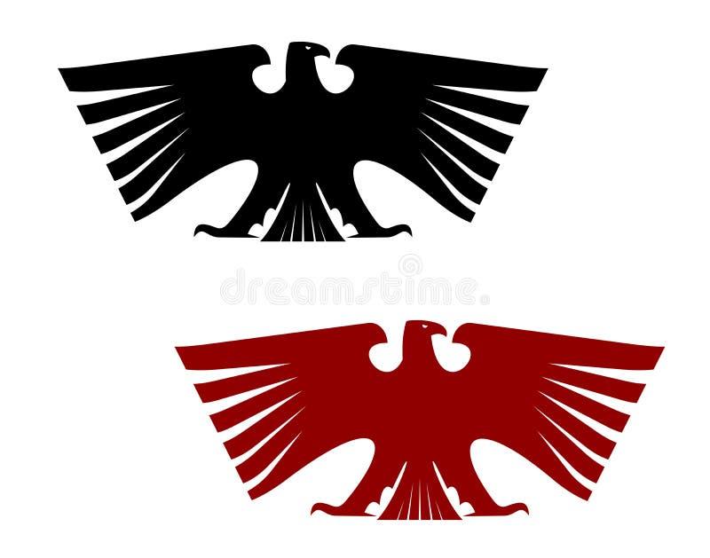 Αυτοκρατορικός εραλδικός αετός με τα εκτενή φτερά απεικόνιση αποθεμάτων