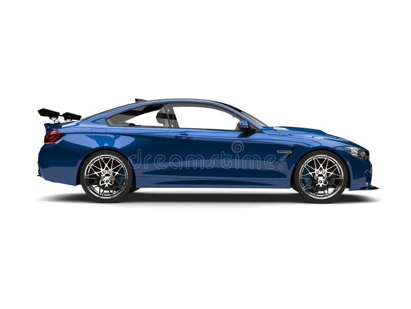 Αυτοκρατορικός μπλε σύγχρονος αθλητισμός που περιοδεύει το αυτοκίνητο - πλάγια όψη ελεύθερη απεικόνιση δικαιώματος