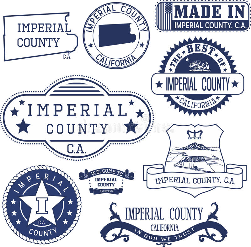 Αυτοκρατορικός νομός, ασβέστιο Σύνολο γραμματοσήμων και σημαδιών ελεύθερη απεικόνιση δικαιώματος
