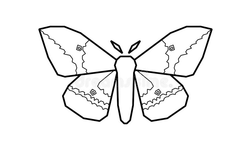 Αυτοκρατορικός σκώρος, διανυσματική απεικόνιση imperialis Eacles στο λευκό ελεύθερη απεικόνιση δικαιώματος