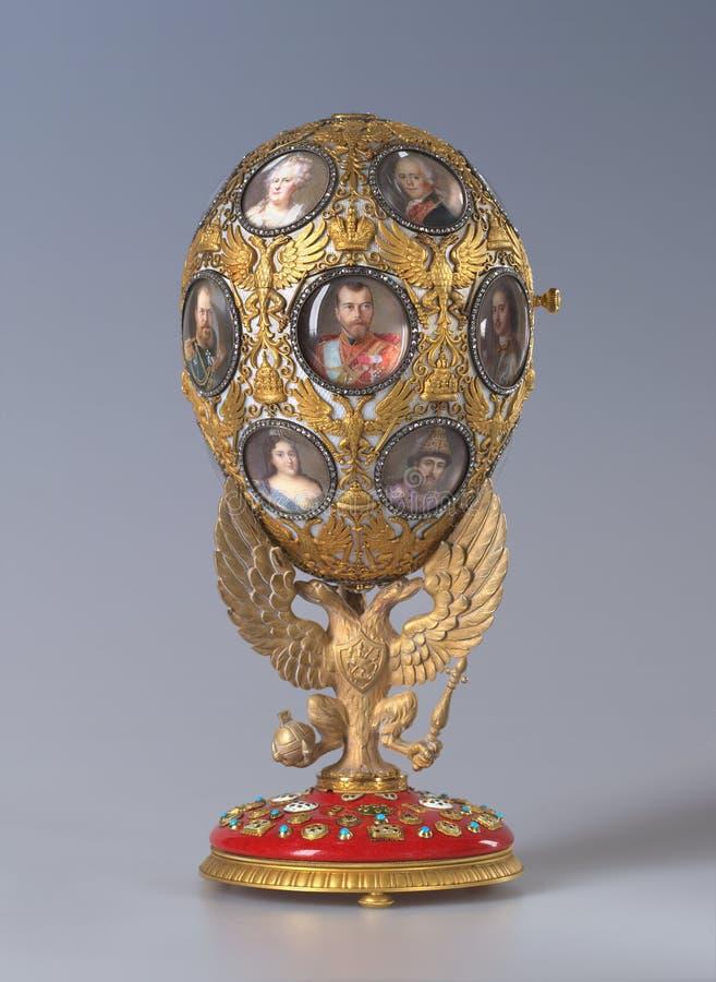 Αυτοκρατορικό αυγό Faberge στο αυτοκρατορικό παλάτι σε Άγιο Πετρούπολη, Ρωσία στοκ εικόνες με δικαίωμα ελεύθερης χρήσης