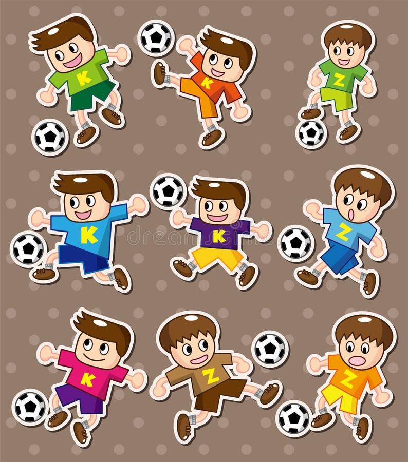 αυτοκόλλητες ετικέττες ποδοσφαίρου απεικόνιση αποθεμάτων