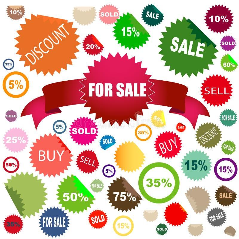 αυτοκόλλητες ετικέττες πώλησης ελεύθερη απεικόνιση δικαιώματος