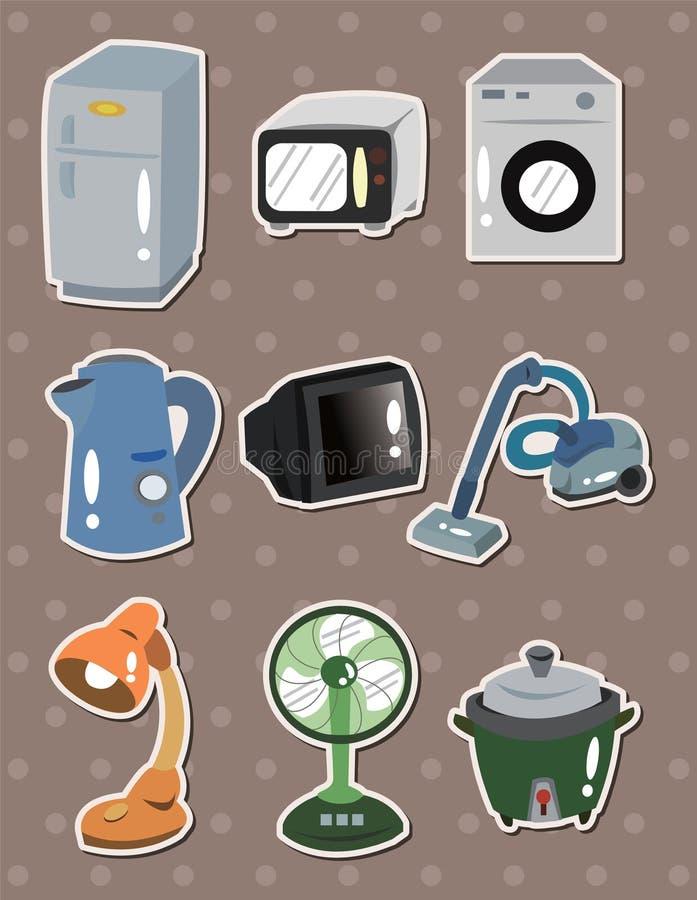 Αυτοκόλλητες ετικέττες συσκευών 'Οικωών ελεύθερη απεικόνιση δικαιώματος