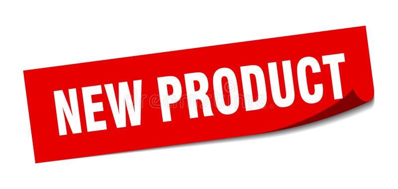 αυτοκόλλητη ετικέττα νέων προϊόντων απεικόνιση αποθεμάτων