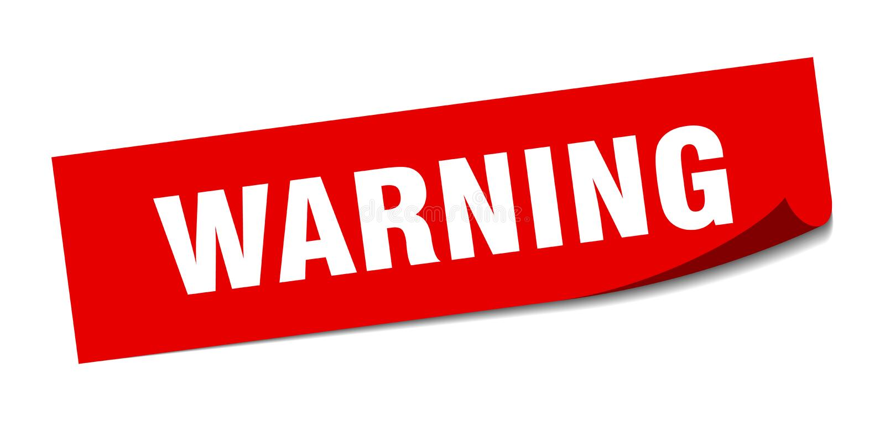 αυτοκόλλητη ετικέττα προειδοποίησης απεικόνιση αποθεμάτων