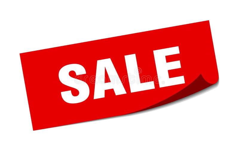 αυτοκόλλητη ετικέττα πώλησης διανυσματική απεικόνιση
