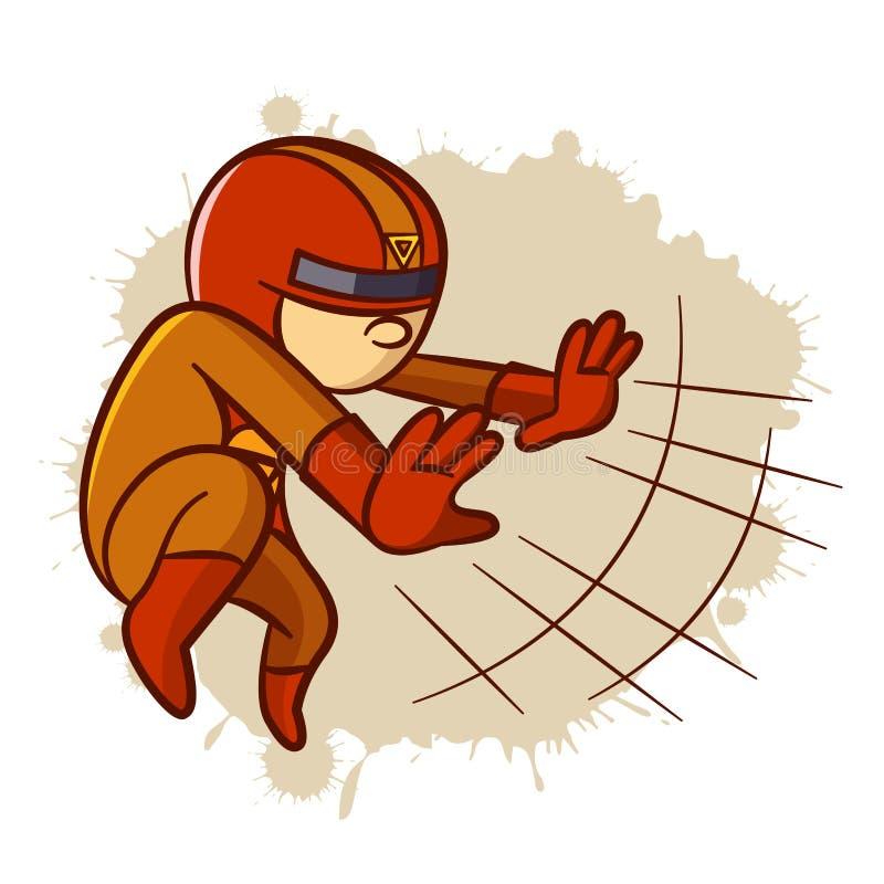 Αυτοκόλλητη ετικέττα αγοριών μαγνητών Superhero διανυσματική απεικόνιση
