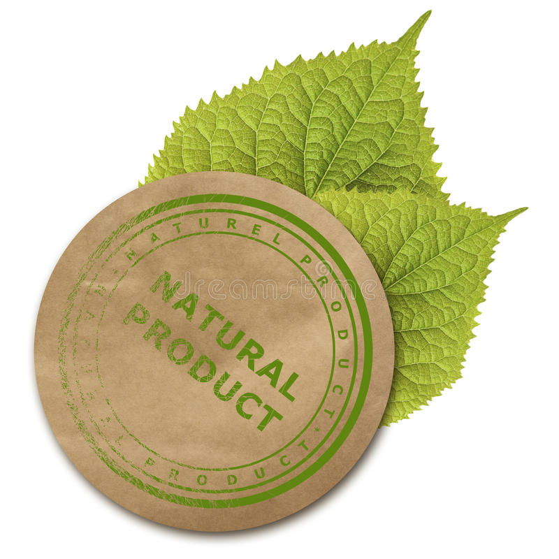 Αυτοκόλλητη ετικέττα εγγράφου Eco στοκ εικόνες