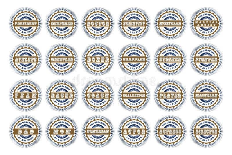 Download Αυτοκόλλητη ετικέττα ετικετών Διανυσματική απεικόνιση - εικονογραφία από βακκινίων, κλασικός: 62712321