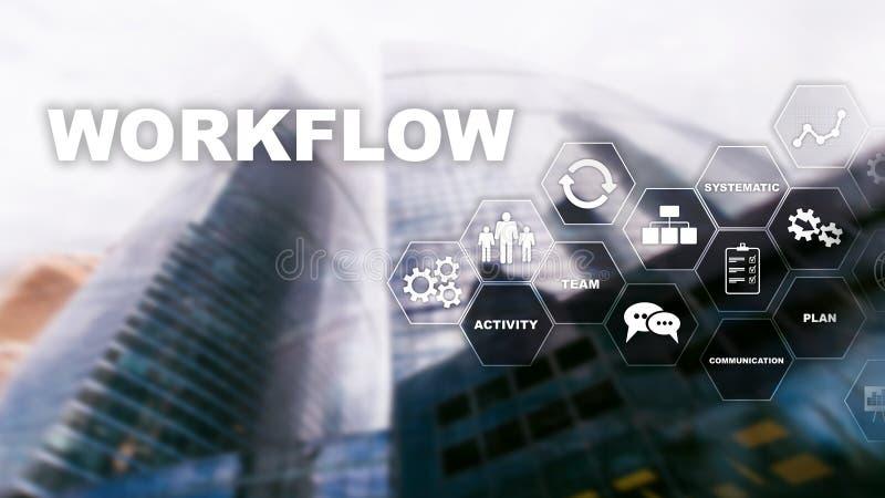 Αυτοματοποίηση των επιχειρησιακών ροών της δουλειάς Διαδικασία εργασίας Αξιοπιστία και επανάληψη στην τεχνολογία και τις οικονομι απεικόνιση αποθεμάτων