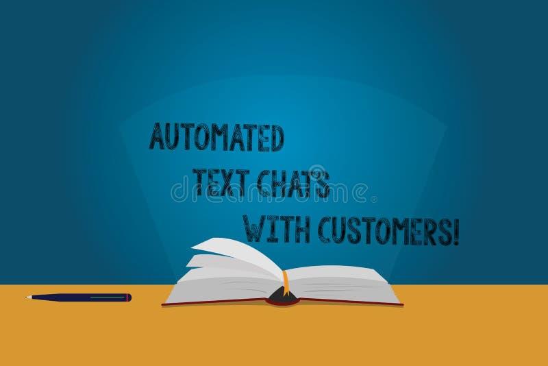 Αυτοματοποιημένες συνομιλίες κειμένων γραφής κείμενο με τους πελάτες Έννοια που σημαίνει τις σελίδες χρώματος συνομιλίας BOT τεχν διανυσματική απεικόνιση