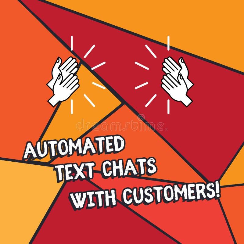Αυτοματοποιημένες συνομιλίες κειμένων γραψίματος λέξης κείμενο με τους πελάτες Επιχειρησιακή έννοια για την ανάλυση συνομιλίας BO απεικόνιση αποθεμάτων