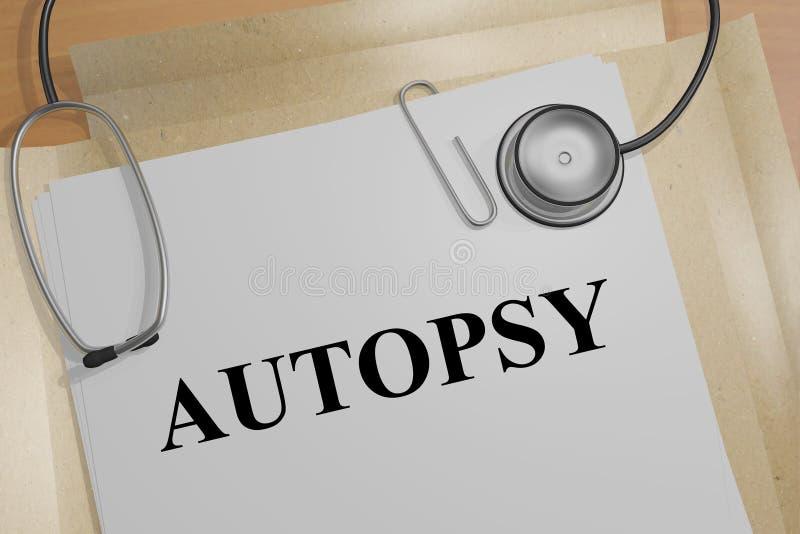 Αυτοψία - ιατρική έννοια διανυσματική απεικόνιση