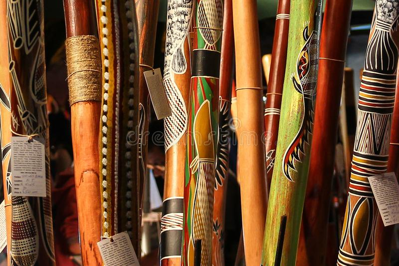 Αυτοώμον όργανο, didgeridoo στοκ φωτογραφίες με δικαίωμα ελεύθερης χρήσης