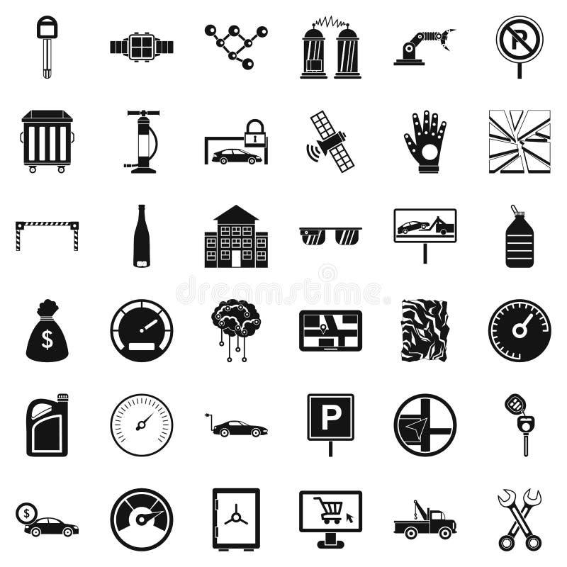 Αυτόματα εικονίδια επισκευής καθορισμένα, απλό ύφος απεικόνιση αποθεμάτων