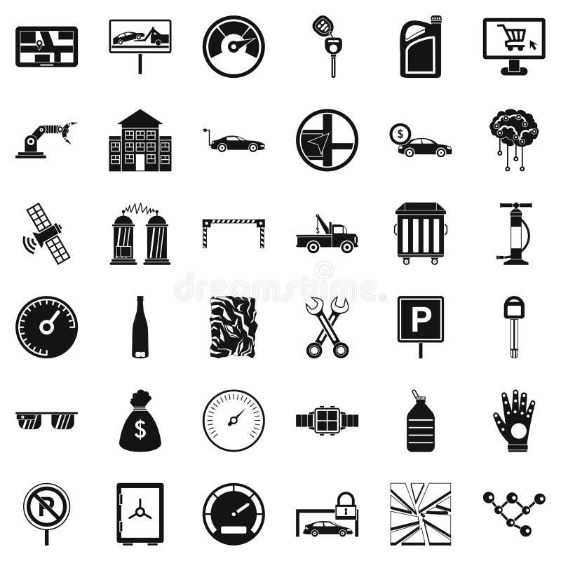 Αυτόματα εικονίδια επισκευής καθορισμένα, απλό ύφος διανυσματική απεικόνιση