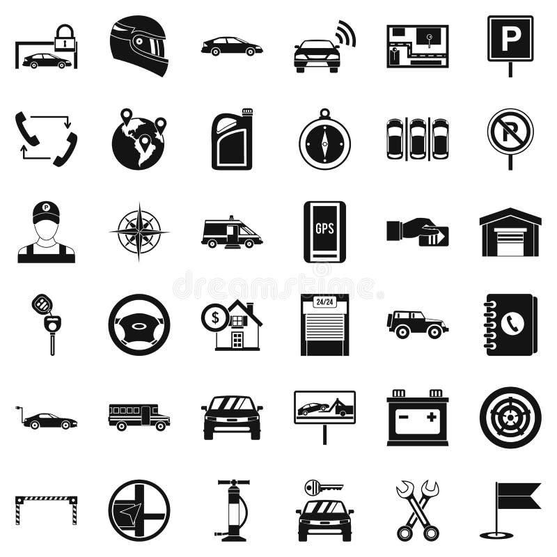Αυτόματα εικονίδια υπηρεσιών καθορισμένα, απλό ύφος διανυσματική απεικόνιση