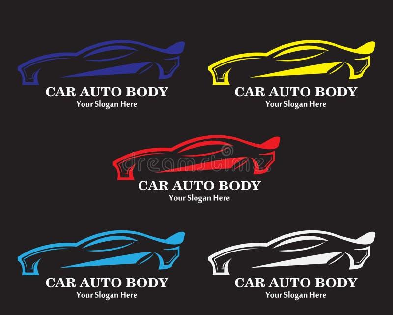 Αυτόματες σχέδιο λογότυπων μελών του σώματος αυτοκινήτων διανυσματικές και απεικόνιση συμβόλων διανυσματική απεικόνιση