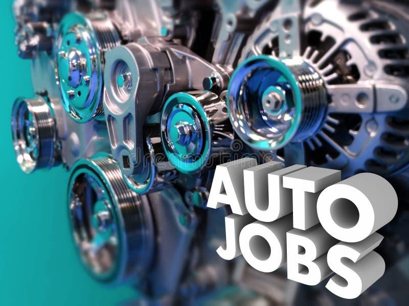Αυτόματος μηχανικός σχεδιαστών αυτοκινήτων εφαρμοσμένης μηχανικής σταδιοδρομίας εργασιών απεικόνιση αποθεμάτων