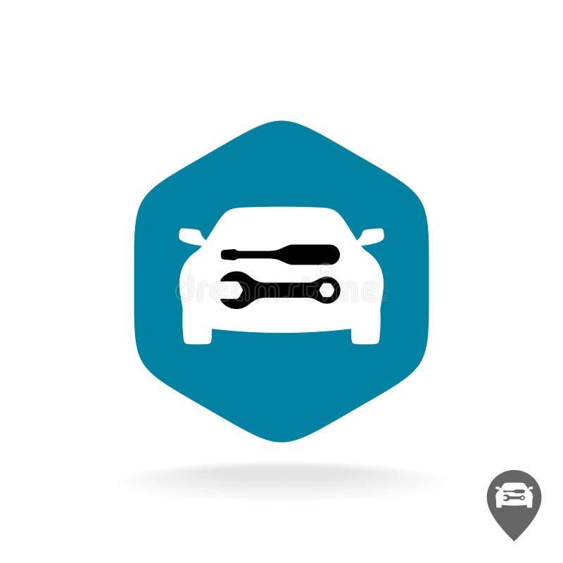 Αυτόματο λογότυπο επισκευής σε ένα δεκαεξαδικό ελεύθερη απεικόνιση δικαιώματος