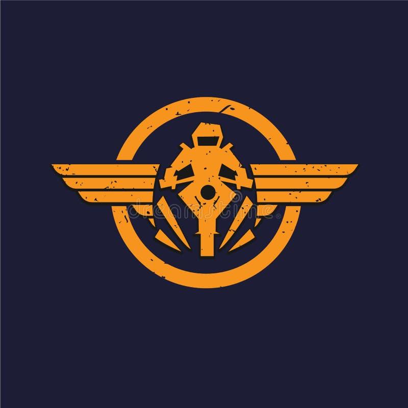 Αυτόματο φτερό, αυτοκίνητο σχέδιο λογότυπων - διανυσματική απεικόνιση