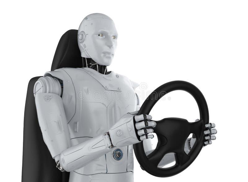 Αυτόνομη έννοια αυτοκινήτων διανυσματική απεικόνιση