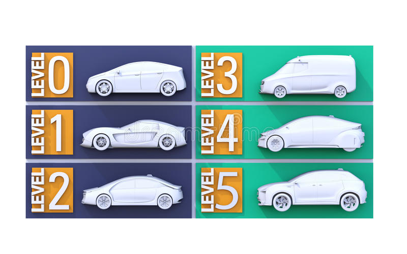 Αυτόνομη έννοια ταξινόμησης αυτοκινήτων απεικόνιση αποθεμάτων