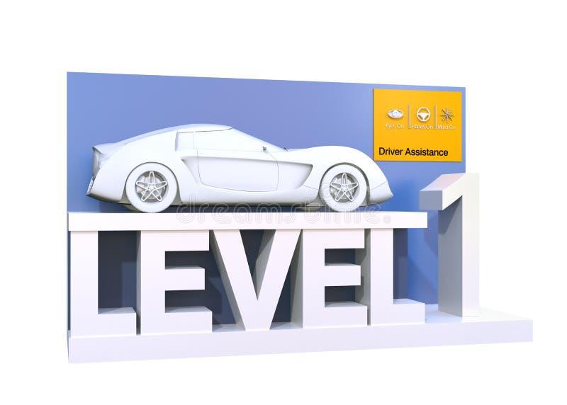 Αυτόνομη ταξινόμηση αυτοκινήτων του επιπέδου 1 απεικόνιση αποθεμάτων
