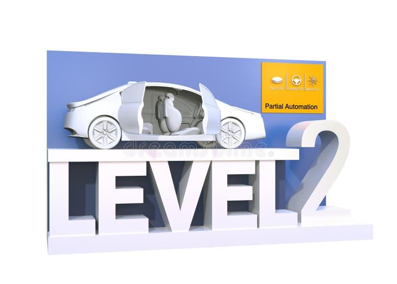 Αυτόνομη ταξινόμηση αυτοκινήτων του επιπέδου 2 απεικόνιση αποθεμάτων