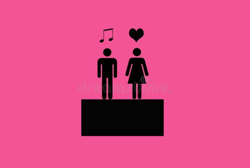 Αυτός η απεικόνιση μουσικής αγάπης της απεικόνιση αποθεμάτων