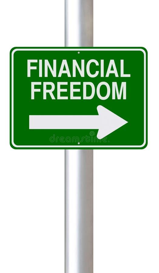 Αυτός ο τρόπος στην οικονομική ελευθερία στοκ φωτογραφία με δικαίωμα ελεύθερης χρήσης
