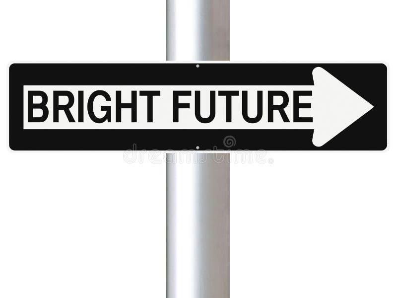Αυτός ο τρόπος στο φωτεινό μέλλον στοκ φωτογραφία με δικαίωμα ελεύθερης χρήσης