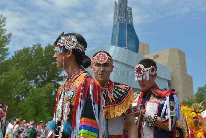 Αυτόχθων ζωντανός εορτασμός ημέρας Winnipeg στοκ εικόνα