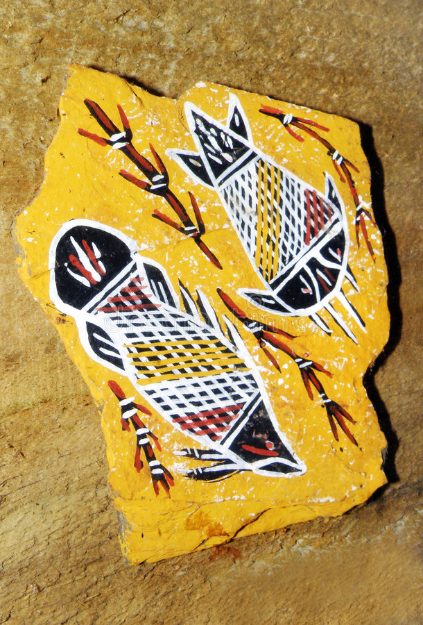 αυτόχθων τέχνη Αυστραλία στοκ εικόνα
