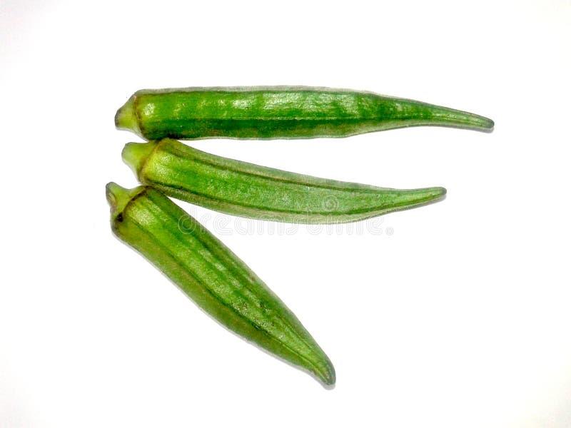 Αυτό είναι το πράσινο γυναικείο δάχτυλο εικόνας με το άσπρο υπόβαθρο στοκ φωτογραφία