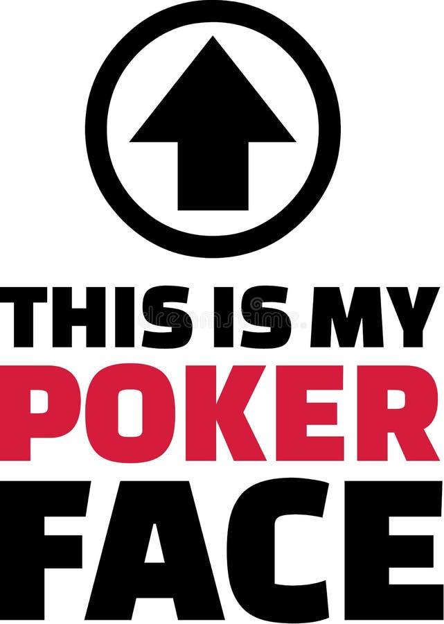 Αυτό είναι το πρόσωπο πόκερ μου ελεύθερη απεικόνιση δικαιώματος
