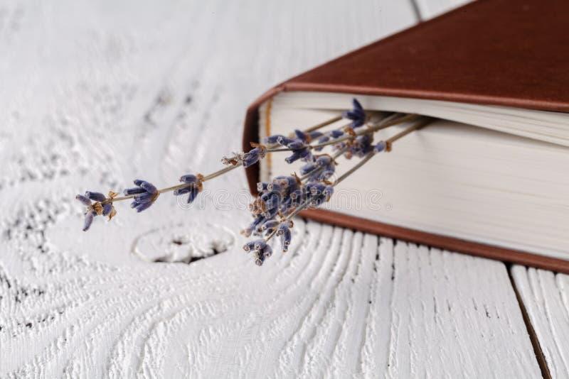 Αυτό μνήμες ` s, μια ανθοδέσμη ξηρό lavender και βιβλία στοκ εικόνες με δικαίωμα ελεύθερης χρήσης
