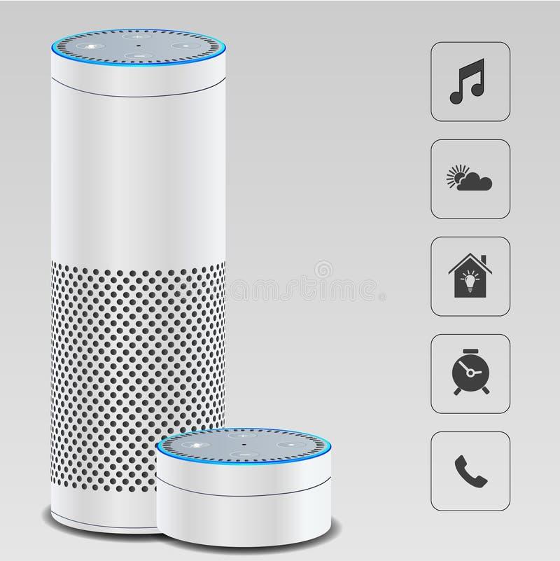 Αυτό που είναι έξυπνο σπίτι ομιλητών διανυσματική απεικόνιση