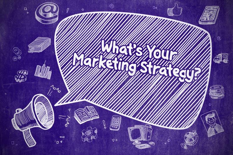 Αυτό που είναι η εμπορική στρατηγική σας - επιχειρησιακή έννοια ελεύθερη απεικόνιση δικαιώματος