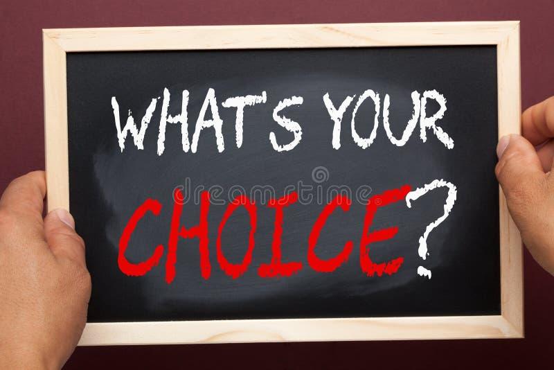 Αυτό που είναι η επιλογή σας στοκ φωτογραφία με δικαίωμα ελεύθερης χρήσης