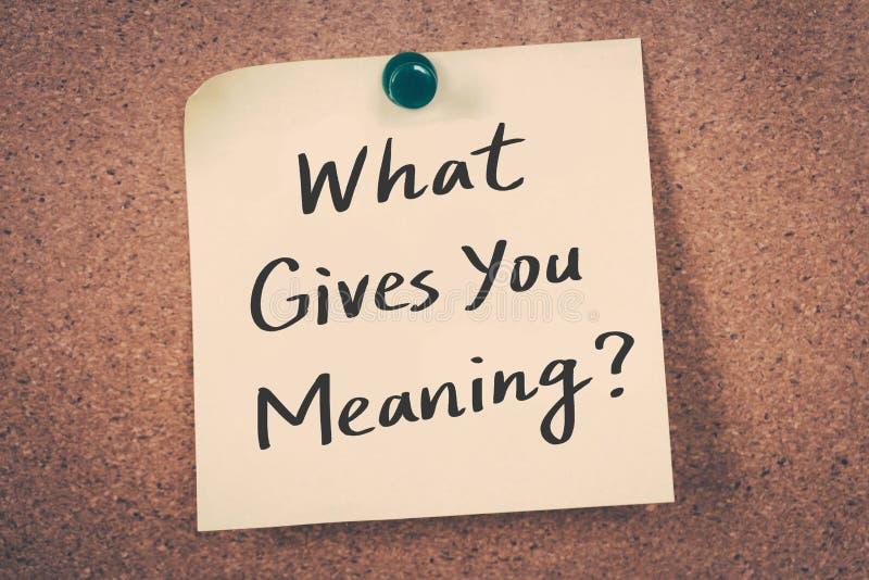 Αυτό που σας δίνει που σημαίνετε; στοκ εικόνες
